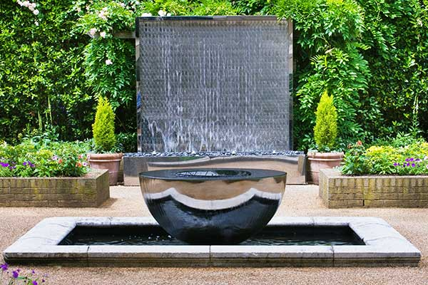 Award winning chalice garden sculpture on show at Eaton Square Gardens, central London