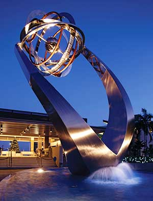 Large corporate sculpture for a marina, Singapore