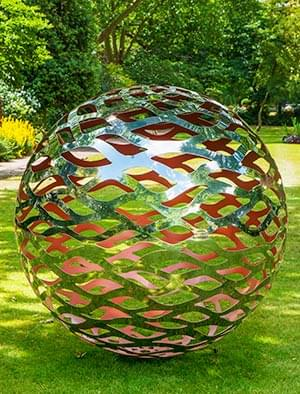 Contemporary Garden Sculpture Stainless Steel Sculpture