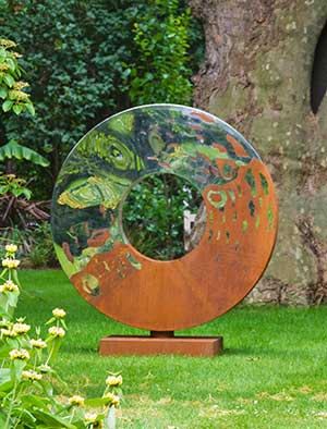 Merveilleux Metal Garden Sculpture Made From Oxidised And Mirror Polished Stainless  Steel