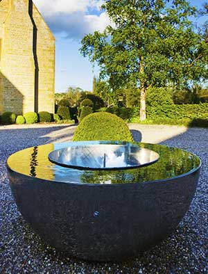 Award-winning stainless steel water feature