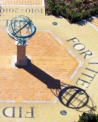Bronze armillary sphere, Altrincham Grammar School for girls, Cheshire