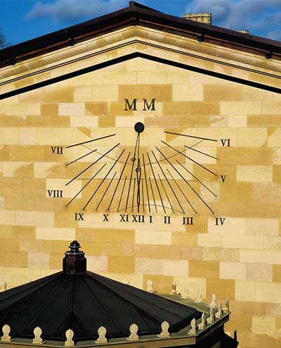 Strip vertical dial, Magdelen College, Oxford