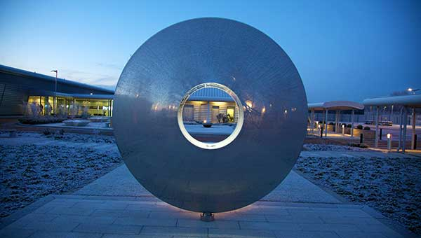Torus sculpture at HSBC data centre