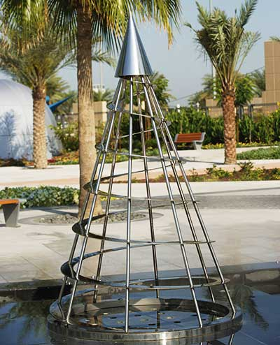 Cone public sculpture  at Zabeel Park, Dubai