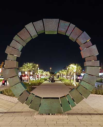 Corporate sculpture for Doha shopping mall