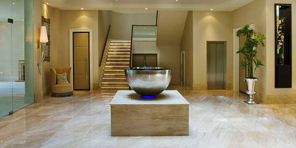 Chalice contemporary interior water feature