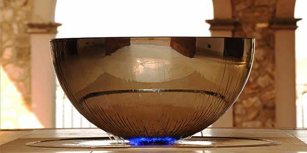 Chalice indoor stainless steel water feature