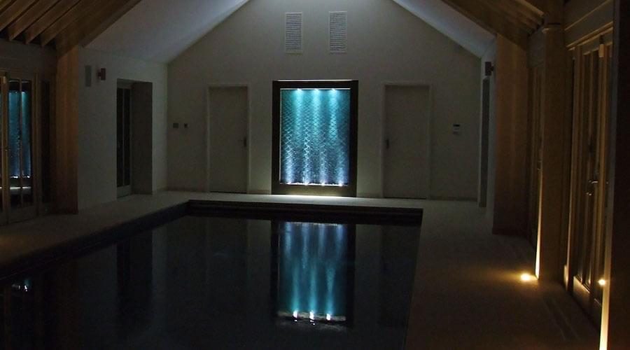 Bespoke Indoor Water Wall Detail