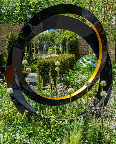Eclipse sculputure, new for RHS Chelsea Flower Show