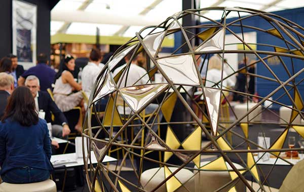 Matrix sculpture in Decorex Champagne Bar