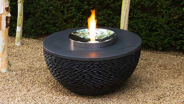 Hemispherical outdoor fire table