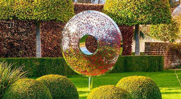 The Iris Torus: a large and dramatic garden sculpture