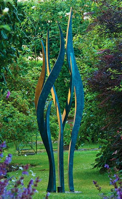 Tree Sculpture In Verdigris Bronze Bronze Garden Art