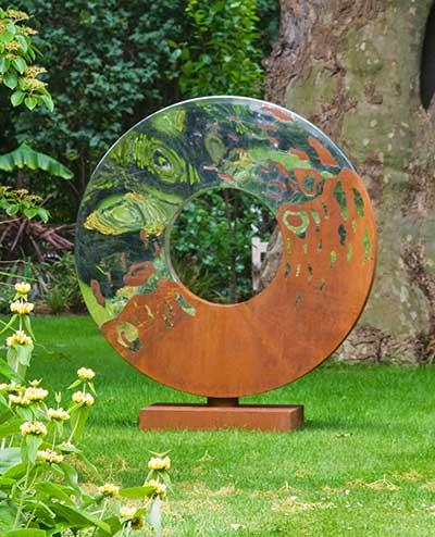 Metal Garden Sculpture The Portal David Harber Uk