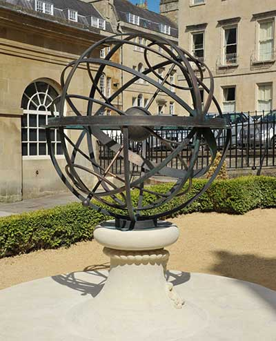 Custom memorial sundial to Admiral Arthur Phillip in burnished bronze,