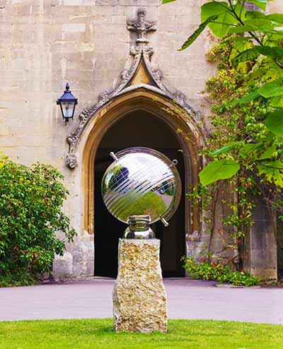 Custom sundial to mark 30 years of woman students, Balliol College, Oxford
