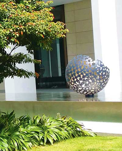 Custom <em>broken</em> Mantle sculptures, Scotts Square luxury development,Singapore