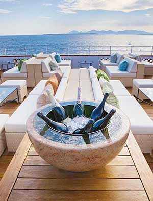 Stone champagne bucket for the Hotel du Cap-Eden-Roc, Antibes, France