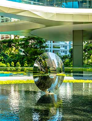 Real estate art for two luxury high rise developments, Singapore