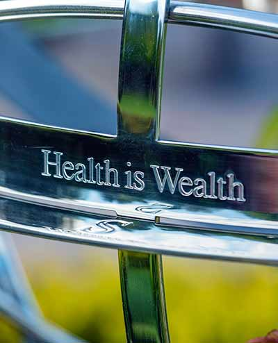 Health is wealth - succint motto