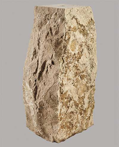 Natural stone boulders plinth