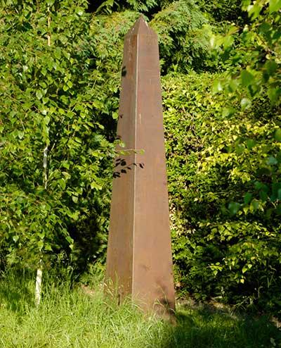 Copper Obelisk Garden Sculpture