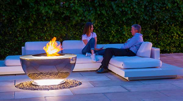 Fire Pit And Water Feature David Harber