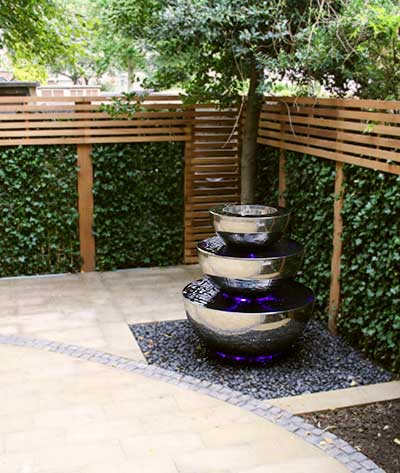 Three tiered water feature