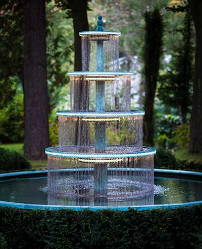 Tiered Water Fountains | The Crucello bronze 3 tier fountain