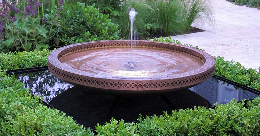 Moorish Inspired Water Feature Bowl